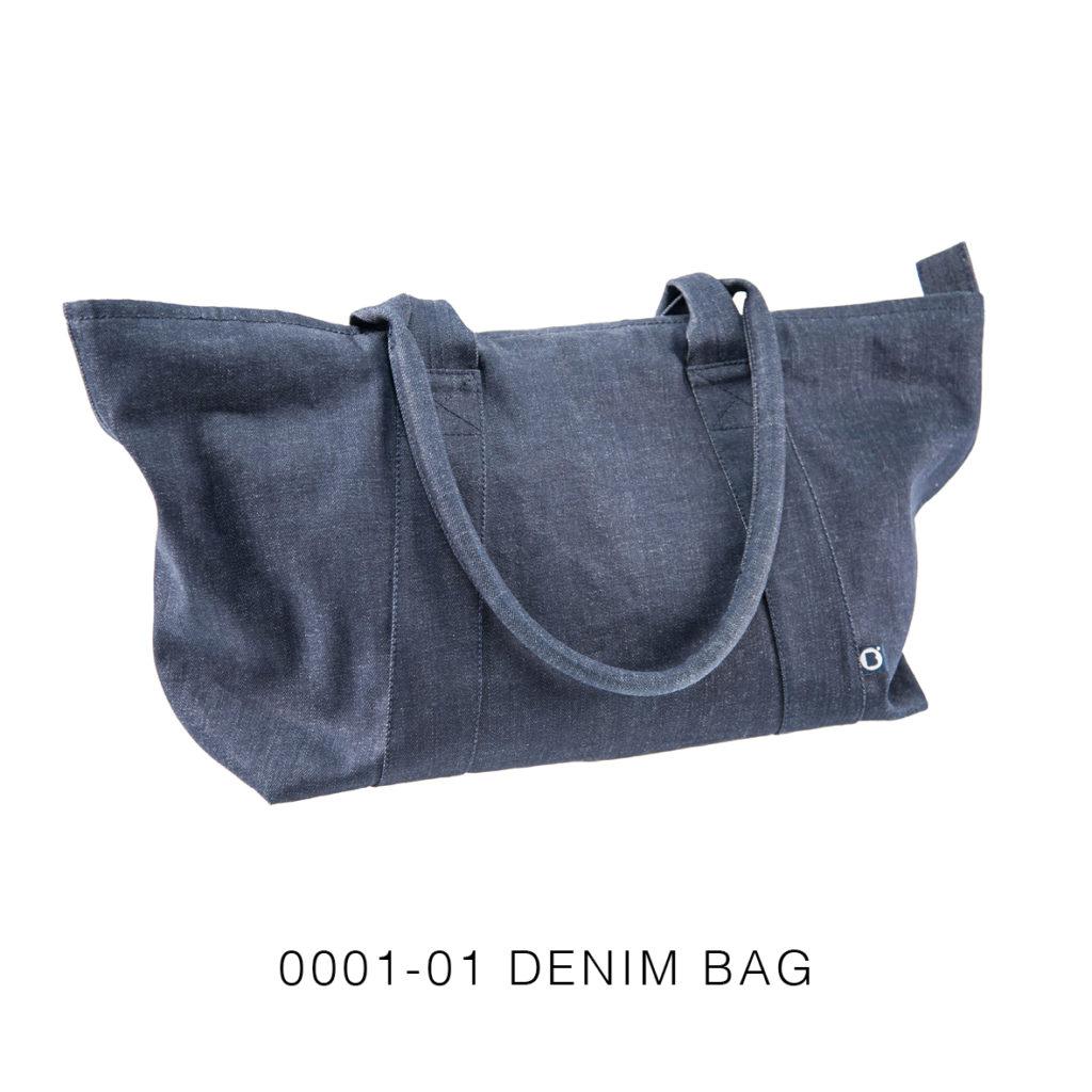 0001-01 DENIM BAG denim raw / raw denim 63x33x23 cm