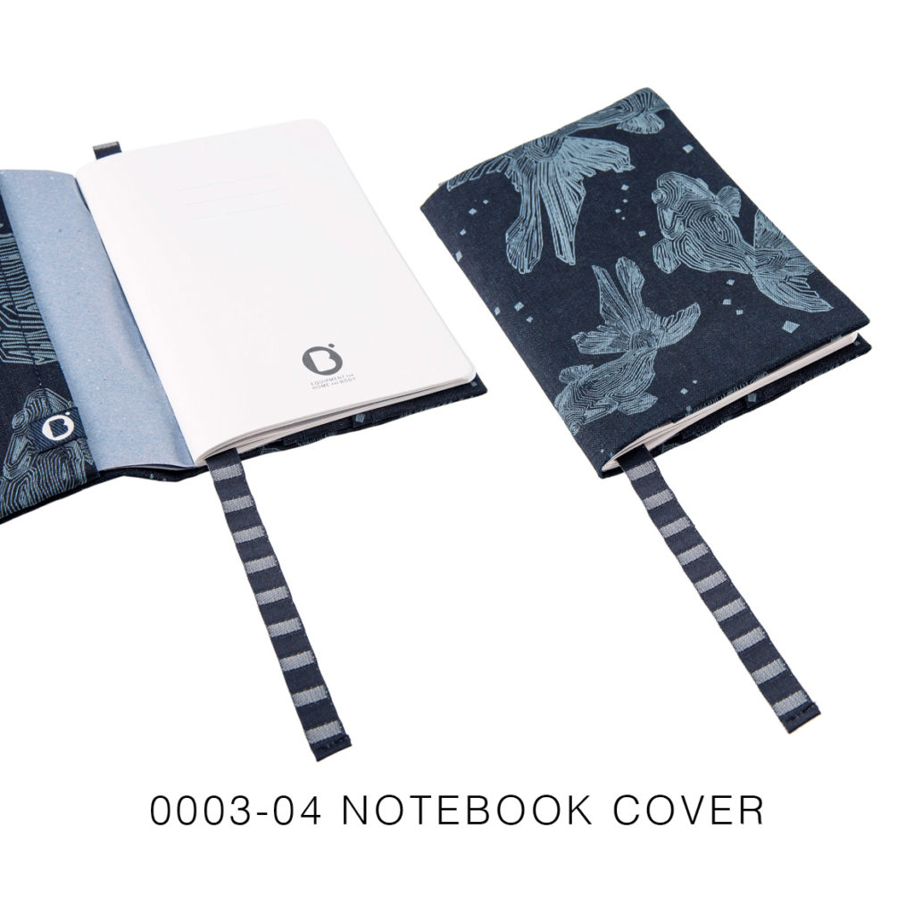 0003-04 NOTEBOOK COVER denim riciclato con laser design / recycled denim with laser design 21,5x15x2 cm