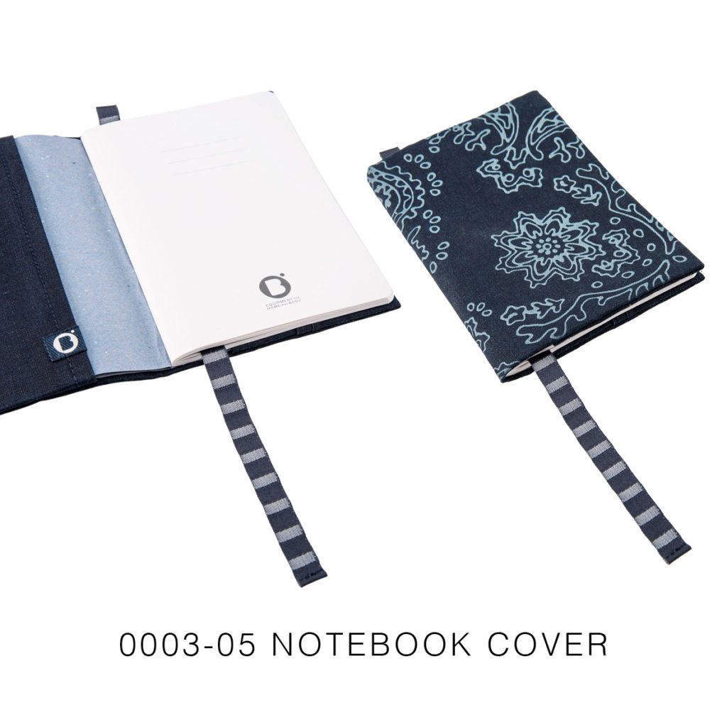 0003-05 NOTEBOOK COVER denim riciclato con laser design / recycled denim with laser design 21,5x15x2 cm