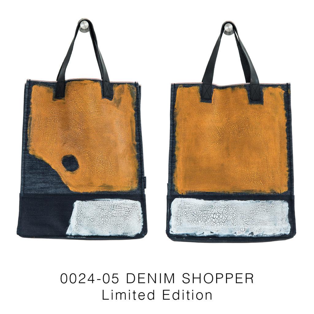 0024-05 Denim Shopper Serie Limitata / Limited Edition 33x41x17 cm