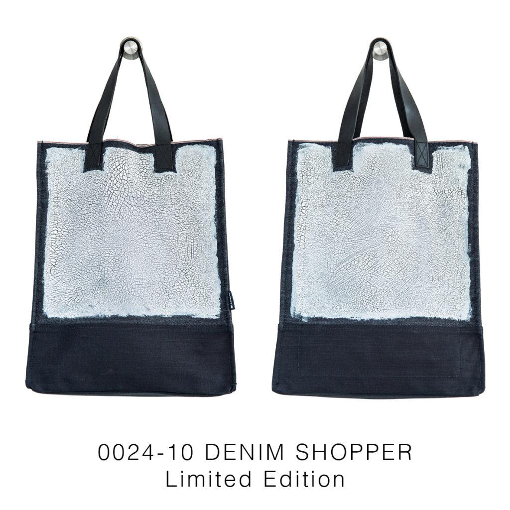0024-10 Denim Shopper Serie Limitata / Limited Edition 33x41x17 cm