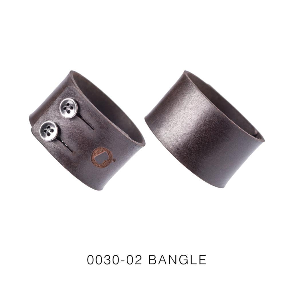 0030-02 Bangle Taglio e grafica laser / Laser cut and graphic Testa di moro / Brown 100% PELLE CONCIA AL VEGETALE  / VEGETABLE TANNING LEATHER