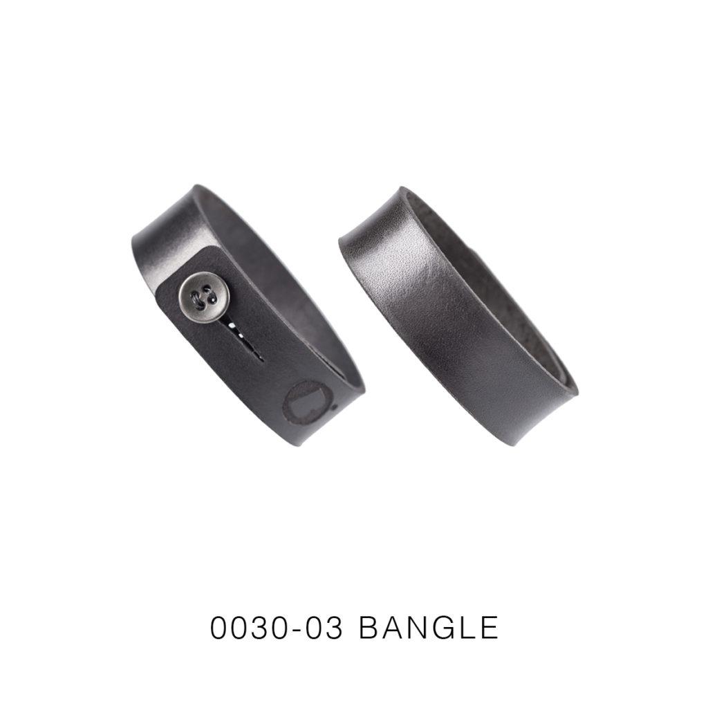 0030-03 Bangle Taglio e grafica laser / Laser cut and graphic Nero / Black 100% PELLE CONCIA AL VEGETALE / VEGETABLE TANNING LEATHER