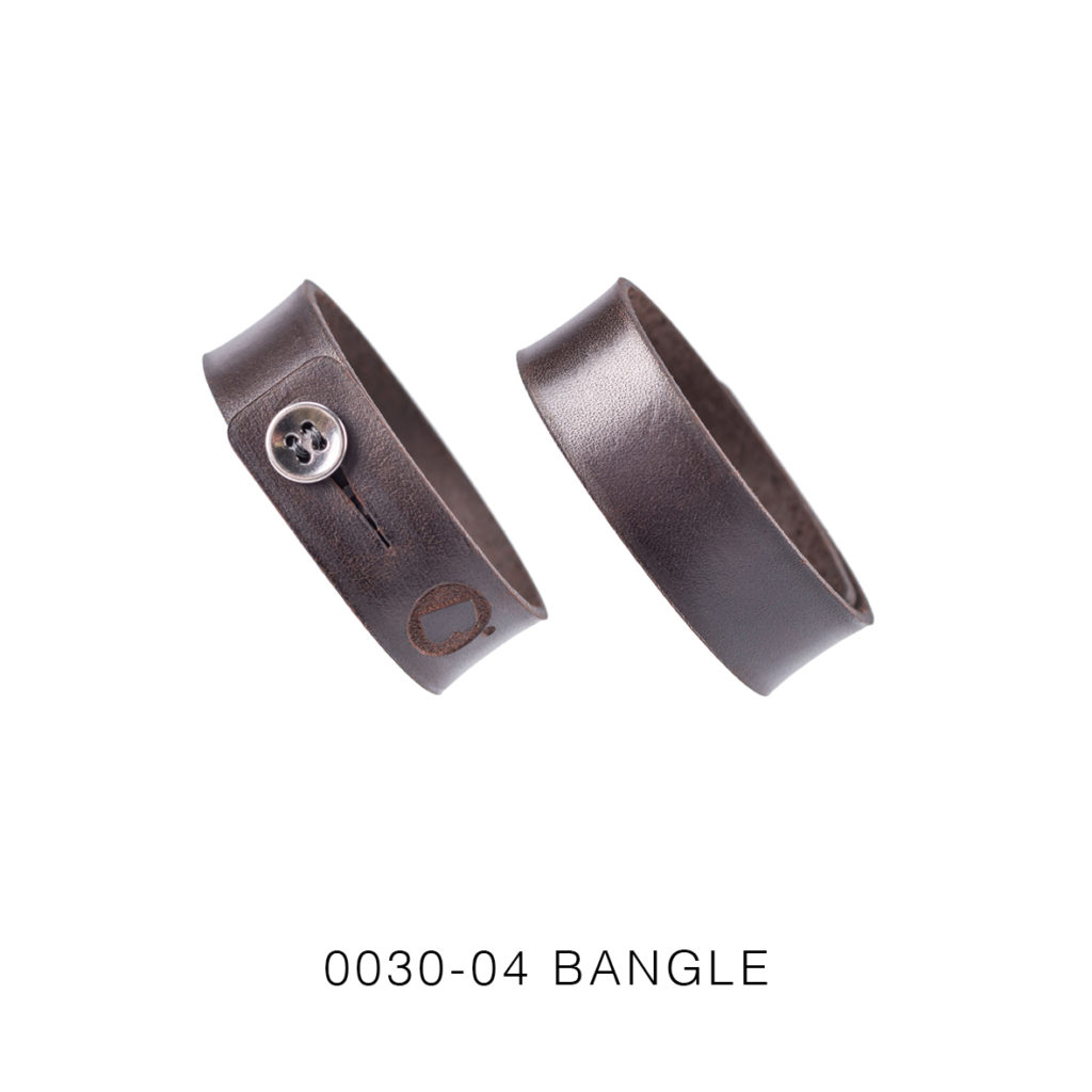 0030-04 Bangle Taglio e grafica laser / Laser cut and graphic Testa di moro / Brown 100% PELLE CONCIA AL VEGETALE / VEGETABLE TANNING LEATHER
