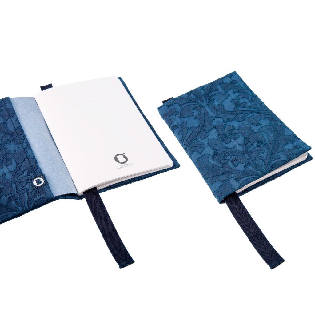 0003-02 NOTEBOOK COVER jacquard indaco / indigo jacquard