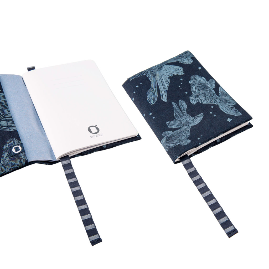 0003-04 NOTEBOOK COVER denim riciclato con laser design / recycled denim with laser design