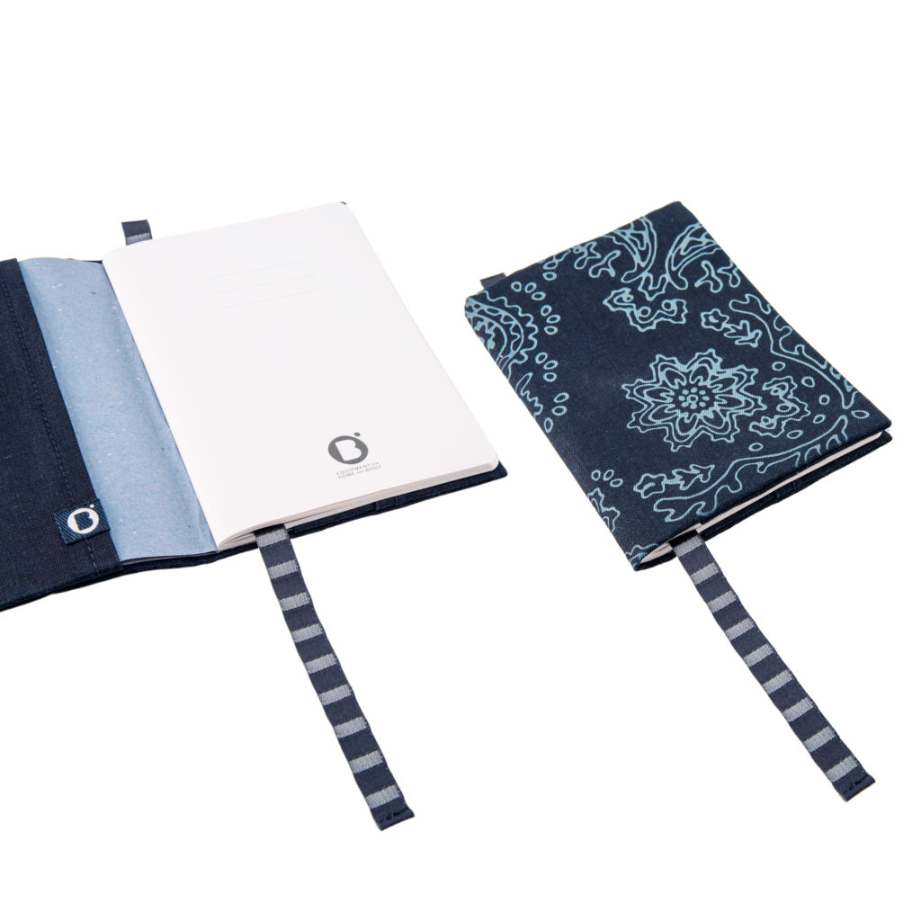 0003-05 NOTEBOOK COVER denim riciclato con laser design / recycled denim with laser design