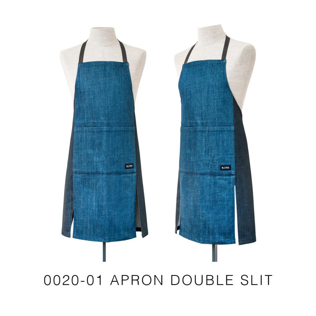 0020-01 APRON DOUBLE SLIT-shop