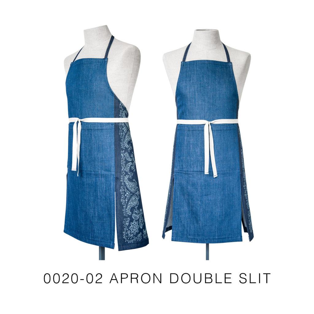 0020-02 APRON DOUBLE SLIT-shop