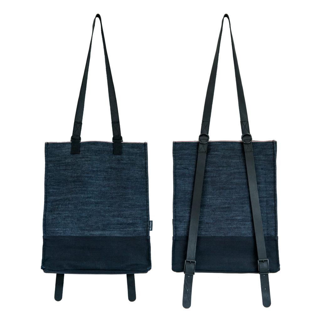 0025-01 Denim Backpack raw denim cimosato / selvedge denim raw