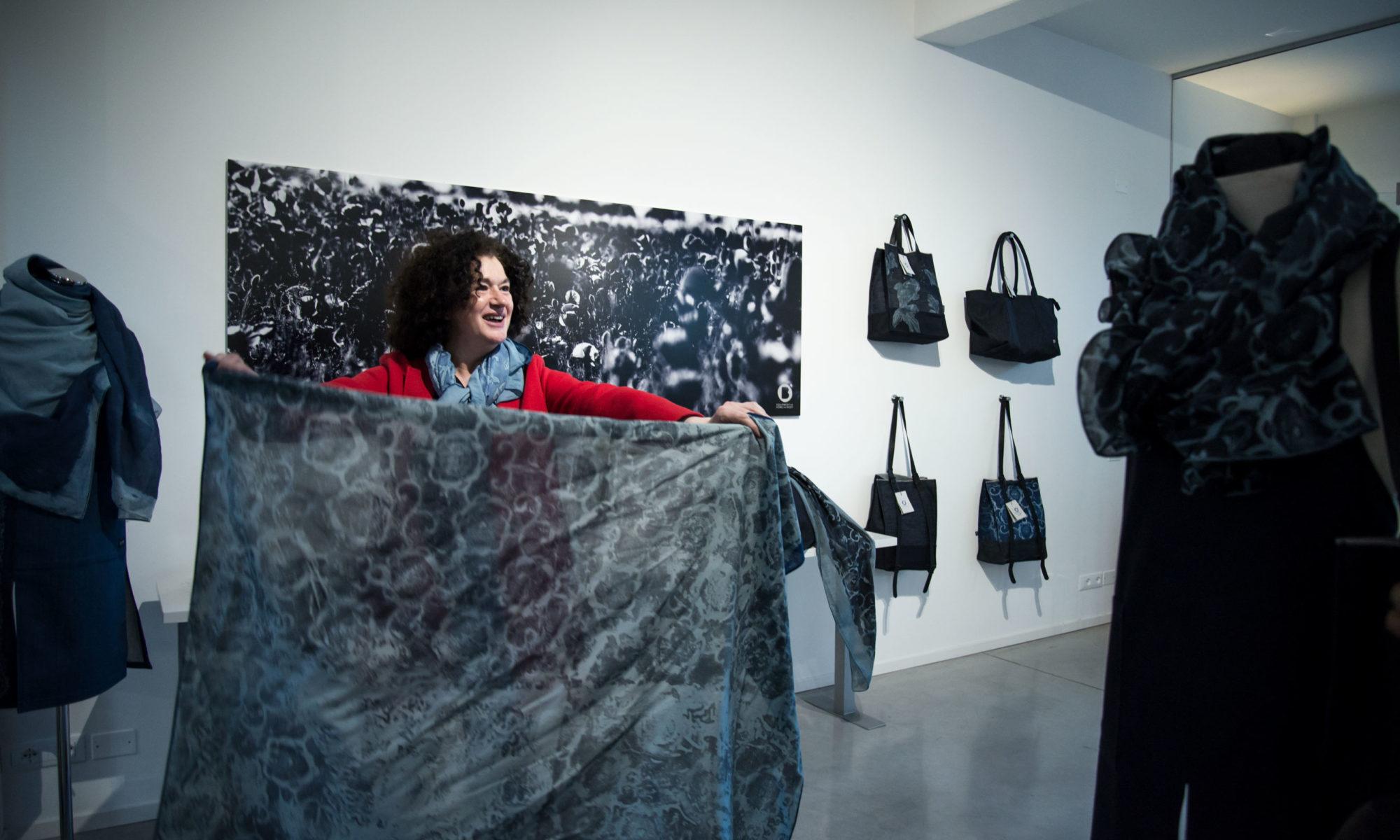 Lucia Rosin in showroom