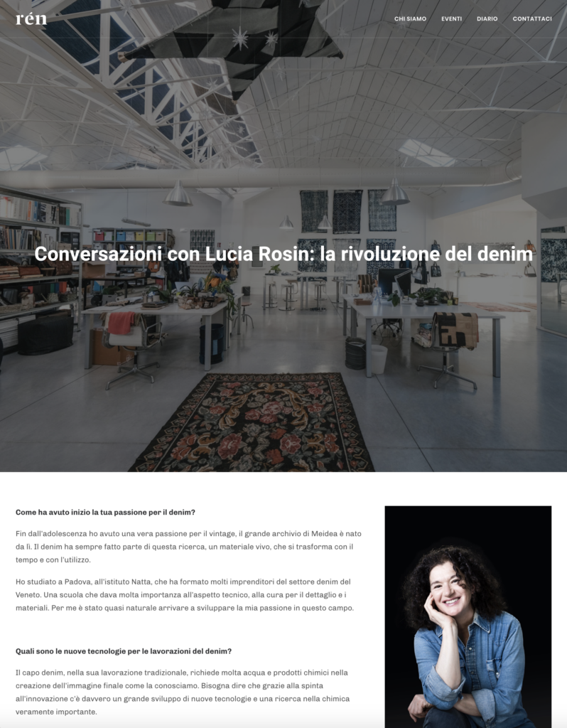 Rén Collective-Conversations with Lucia Rosin: the denim revolution